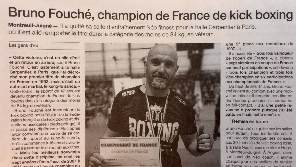 Votre coach Champion de France de Kick Boxing